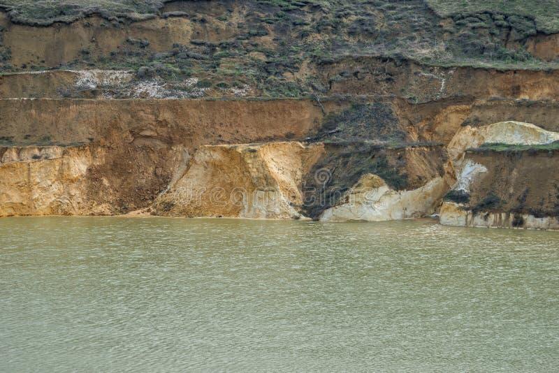 Alter versunkener Bergwerkquarzsand mit einer überlagerten Küste 01 lizenzfreie stockbilder