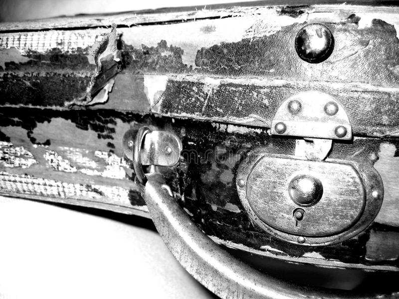 Alter Violinenkasten stockbild