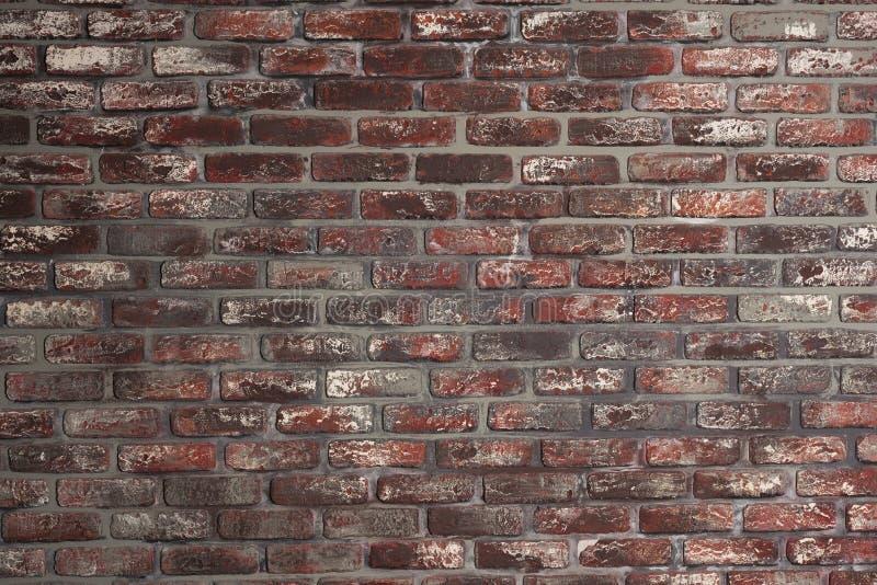 Alter Wand-Beschaffenheitshintergrund des roten Backsteins gemasert stockfotografie
