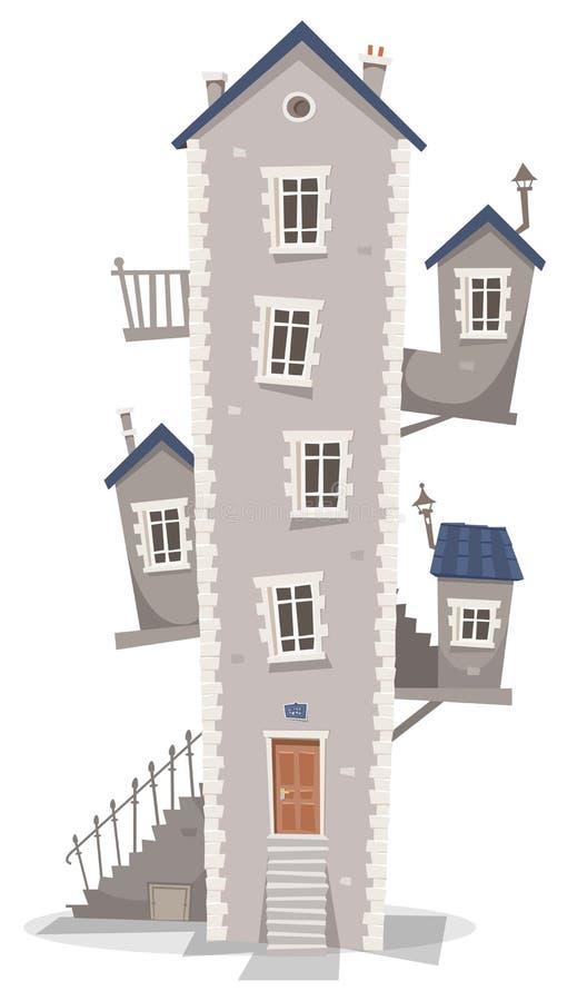 Alter Wohnungsbau lizenzfreie abbildung