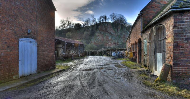 Alter Worcestershire-Hof lizenzfreies stockfoto
