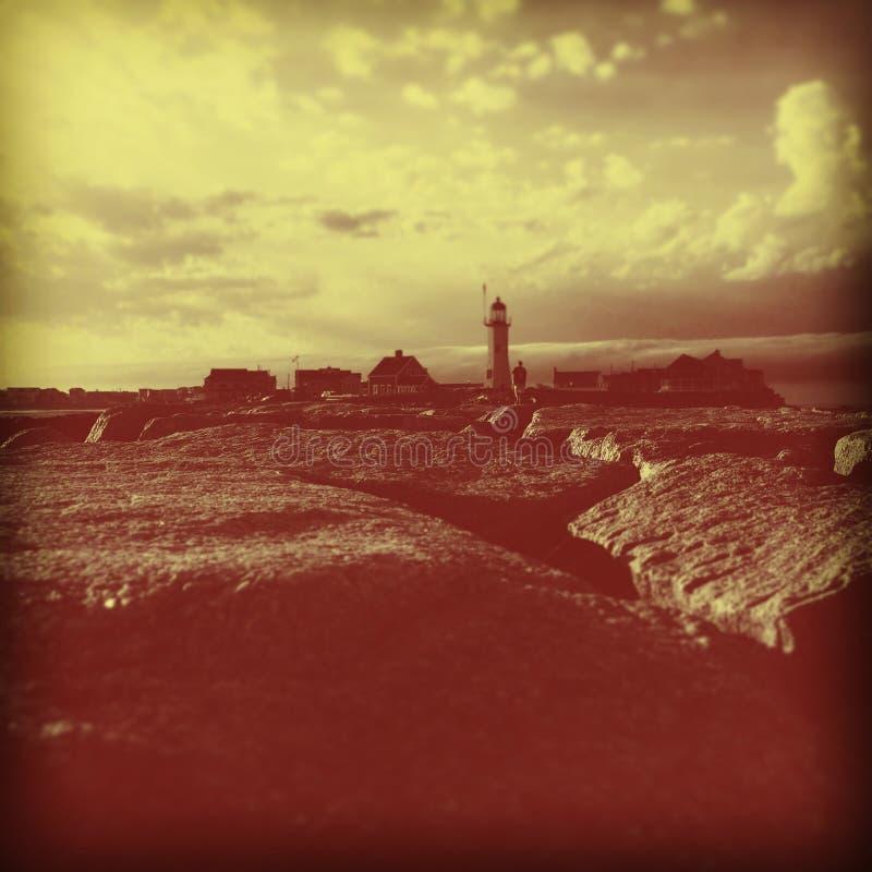 alter Zeit Leuchtturm MA stockbilder