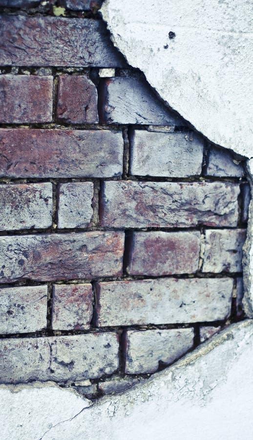 Alter Ziegelstein gebrochene Wand lizenzfreies stockfoto