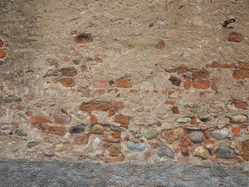 alter Ziegelstein- und Mörserwandhintergrund stockfoto