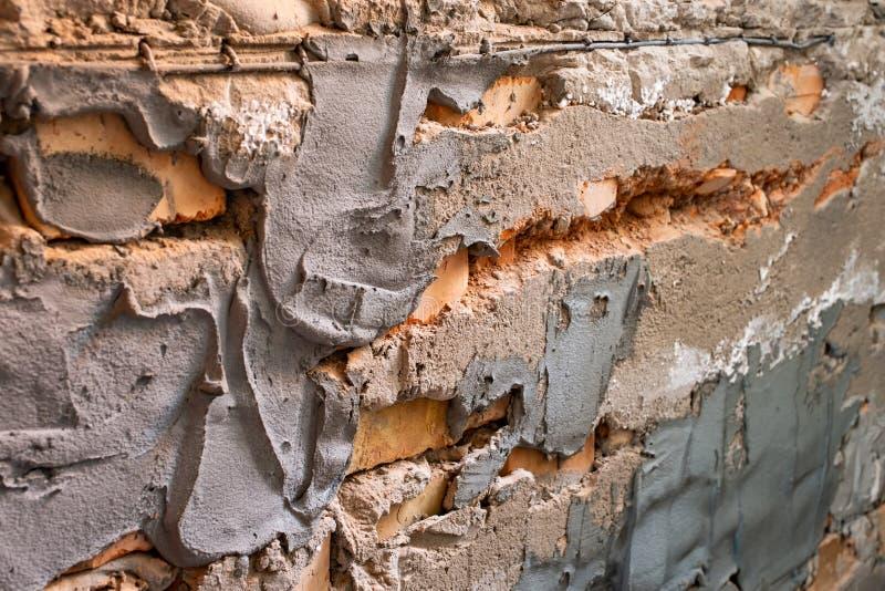 Alter Ziegelsteinhintergrund Ziegelsteinwolle stockfotografie
