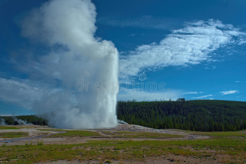 Alter zuverlässiger Geysir - Yellowstone Nationalpark - Wyoming lizenzfreie stockfotos