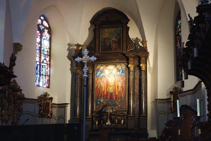 Altere de la abadía de St Maurice Switzerland imagen de archivo