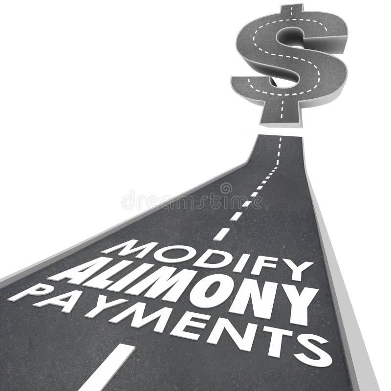 Altere a obrigação financeira Suppor esponsal da estrada dos pagamentos da pensão alimentar ilustração do vetor