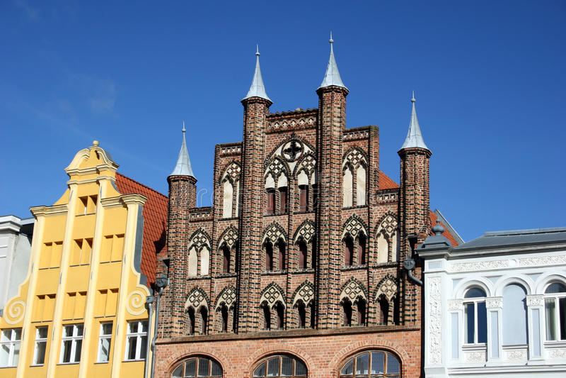 Alteri Markt in Stralsund, Germania fotografia stock