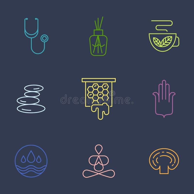 Alternatief deel 2 van Geneeskundepictogrammen vector illustratie