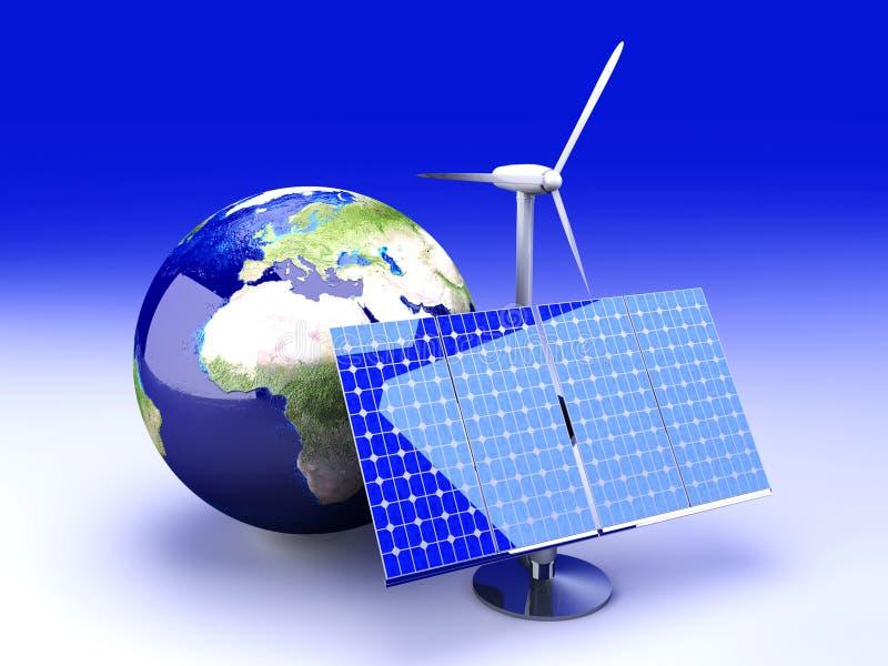 Alternatieve Energie - Europa stock illustratie
