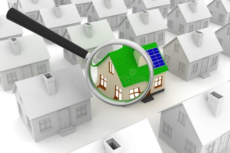 Alternatieve energieconcept royalty-vrije illustratie