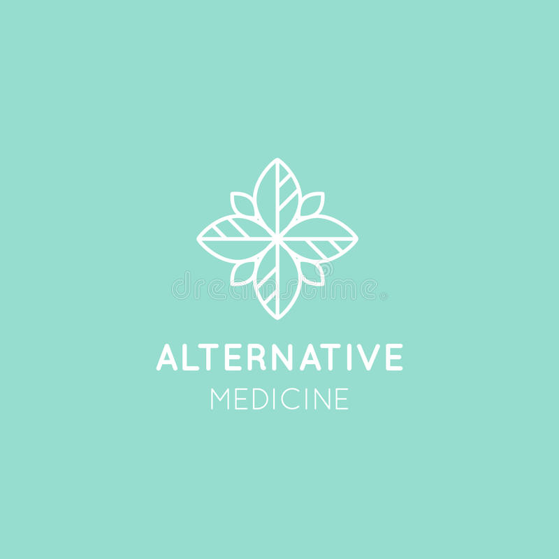 Alternatieve geneeskunde Vitaminetherapie, anti-Veroudert, Wellness, Ayurveda, Chinese Geneeskunde stock illustratie