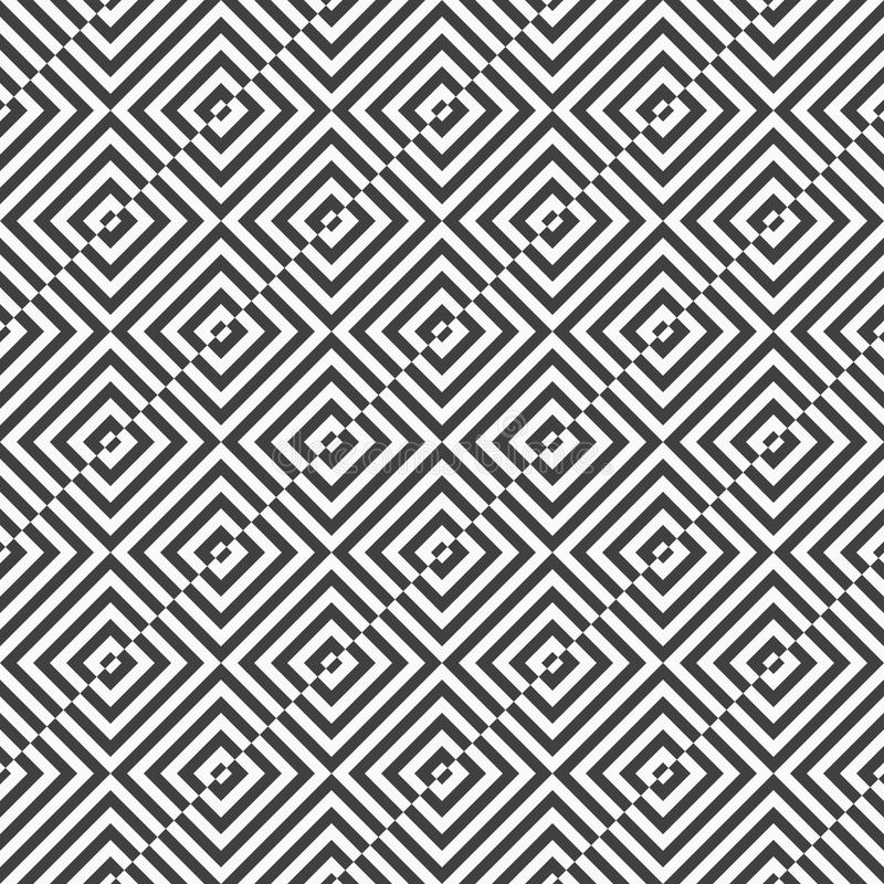 Alternating black and white diagonally cut squares. Geometric background with black and white stripes. Seamless monochrome pattern with zebra effect.Alternating stock illustration