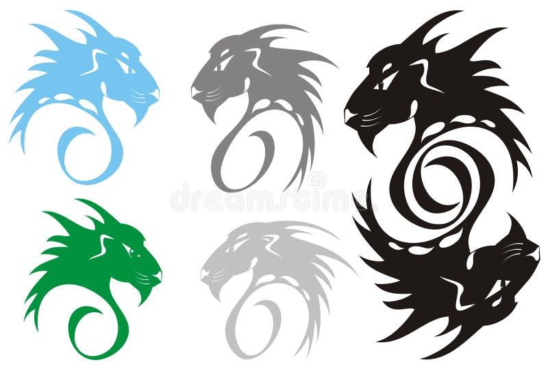 Rovdjurs- Symboler Royaltyfri Fotografi