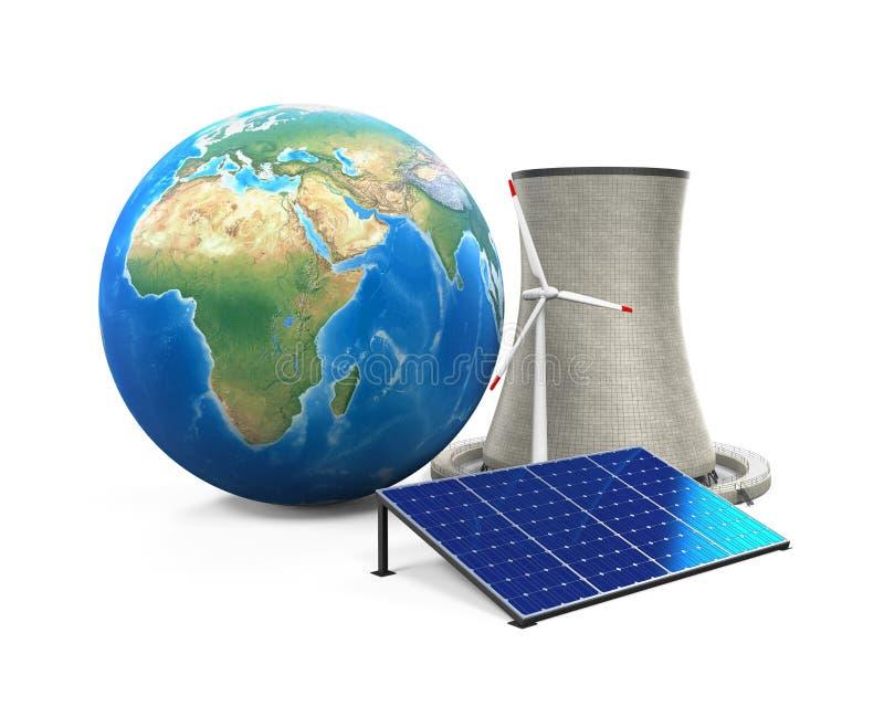 alternativ energi vektor illustrationer