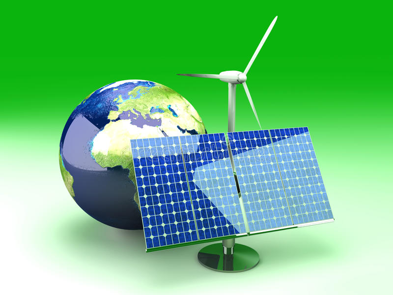 alternativ energi Europa royaltyfri illustrationer