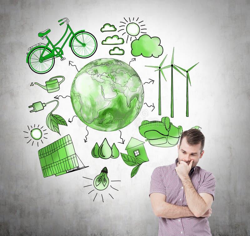 Alternativ energi, ren miljö stock illustrationer