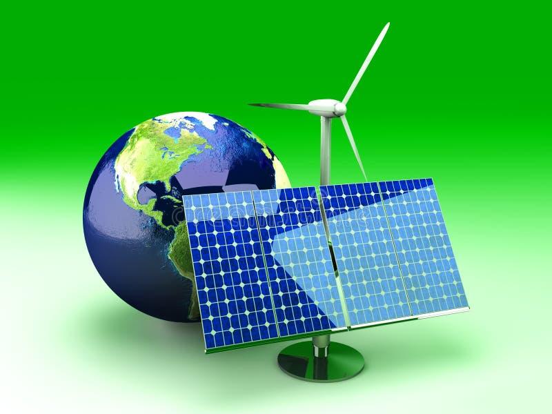alternativ energi USA stock illustrationer