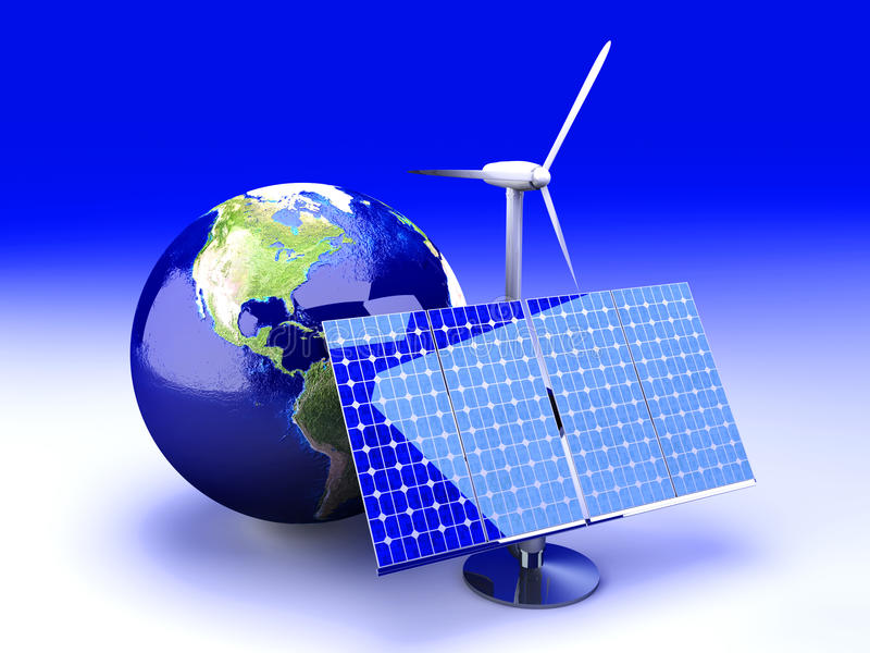 alternativ energi USA royaltyfri illustrationer