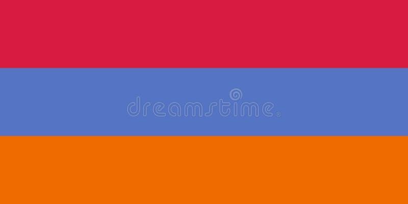 Alternativ version av flaggan av Armenien, vektorbild vektor illustrationer