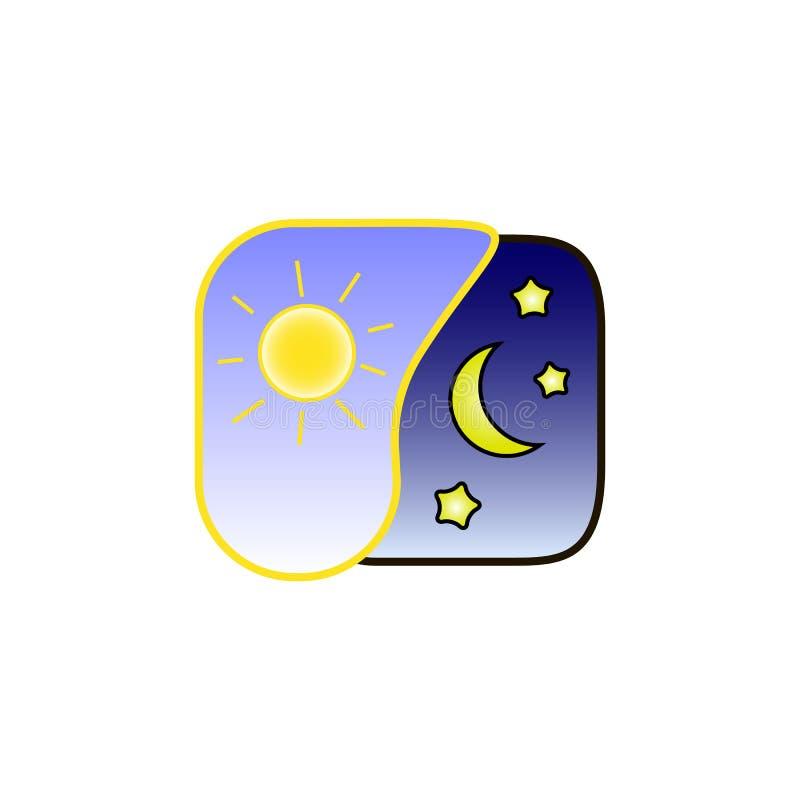 Alternativa del giorno e della notte illustrazione vettoriale