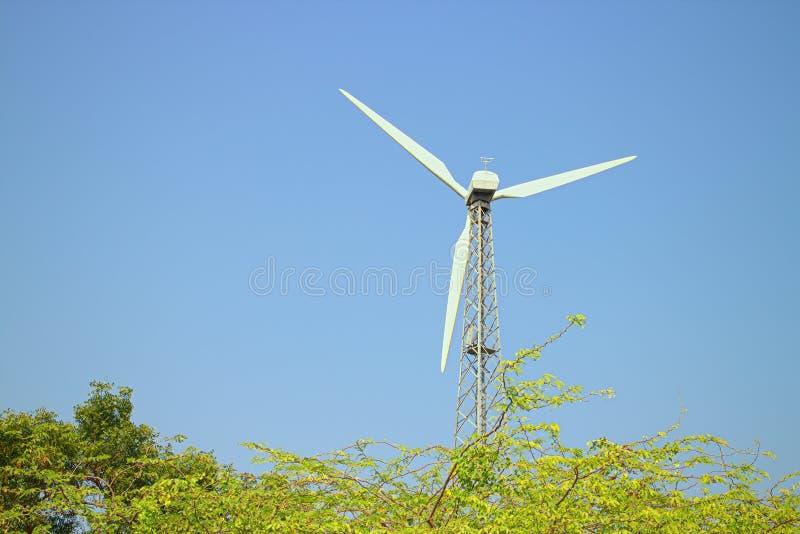 Alternativas 6 da energia Exploração agrícola de vento na província indiana de Kerala imagens de stock