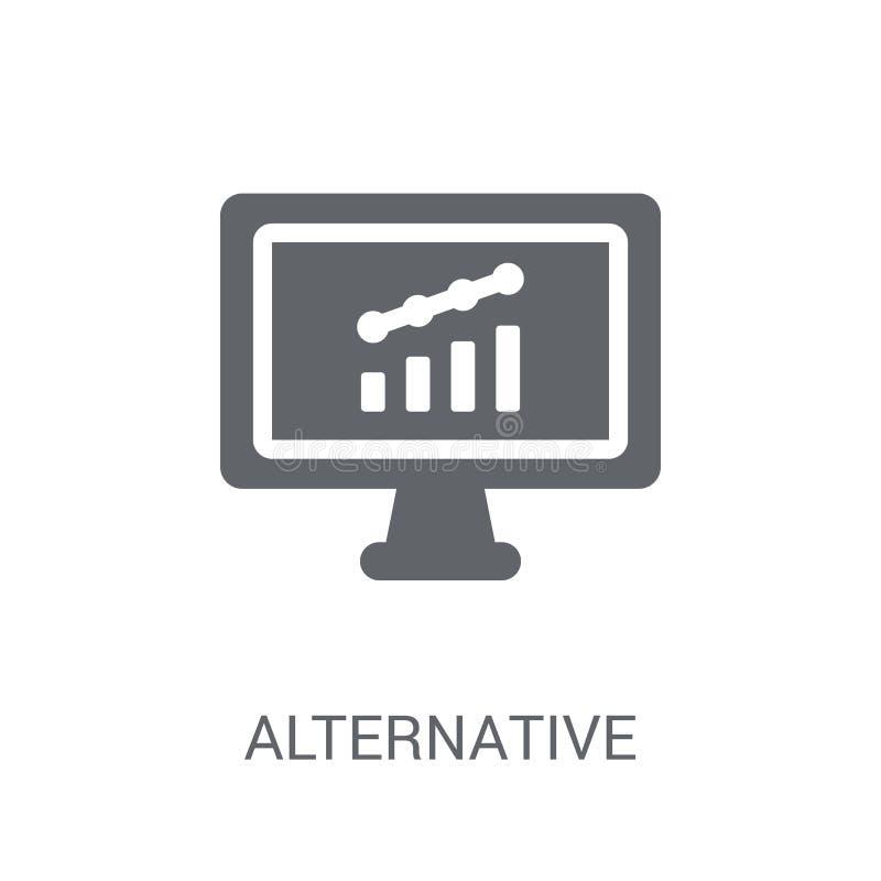 Alternative Anlagemarktikone  stock abbildung