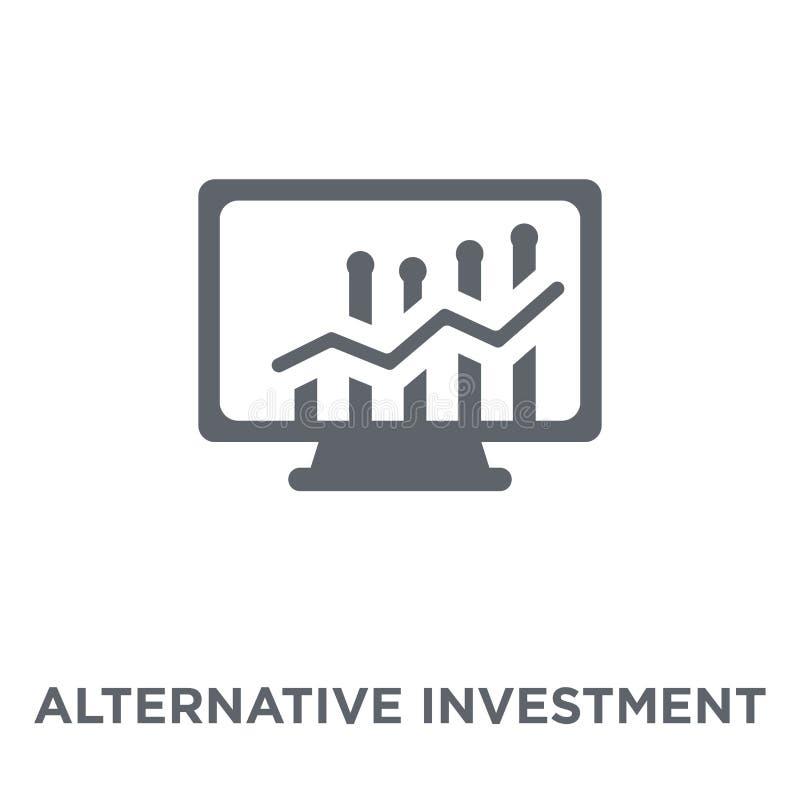 Alternative Anlagemarktikone von alternativer Investition m vektor abbildung