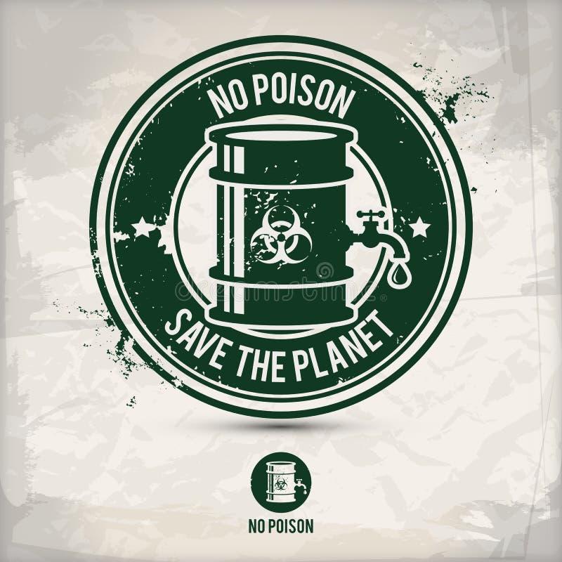 Alternative aucun timbre de poison illustration de vecteur