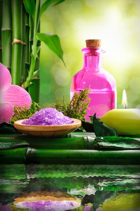 Alternative Behandlungen von natürlichen Wesentlichen für Körperpflege vertica lizenzfreie stockfotografie