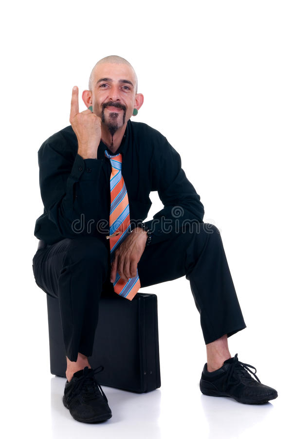 Alternative businessman royalty free stock photo