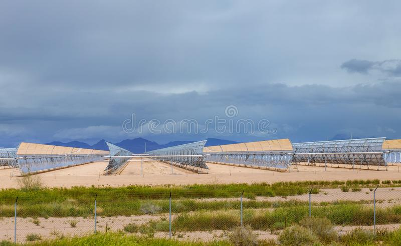Alternative electricity solar energy sources and water heaters at an using solar energy. Alternative electricity energy sources and water heaters at an using stock images