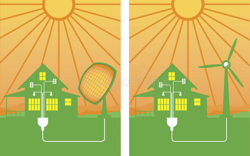 Alternative Energie lizenzfreie abbildung