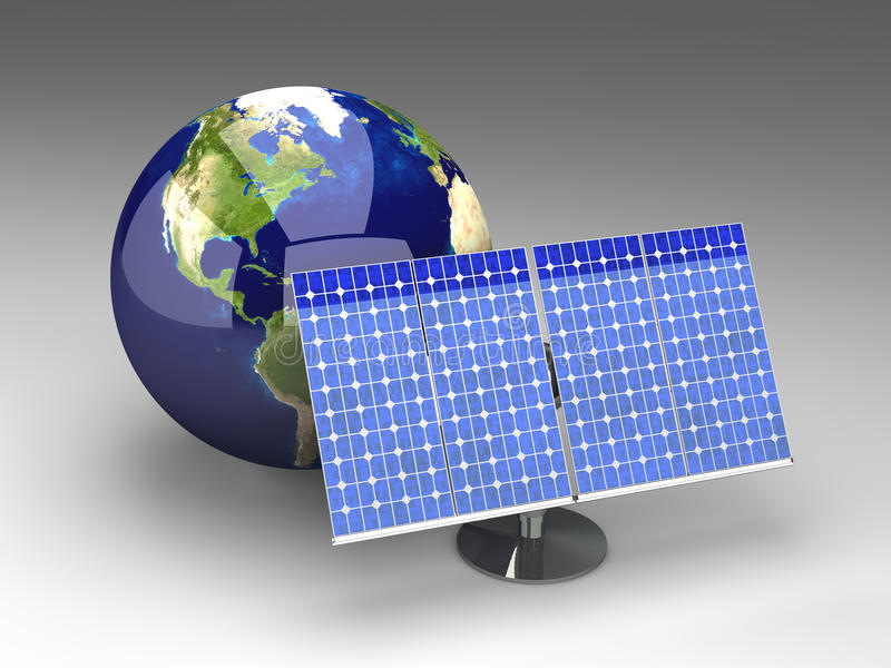Alternative Energie - Amerika stock abbildung