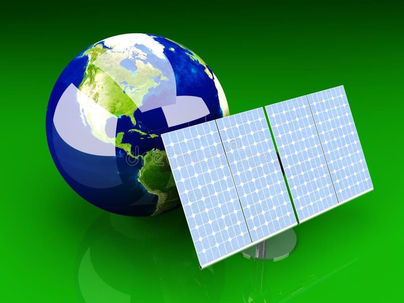 Alternative Energie - Amerika lizenzfreie abbildung