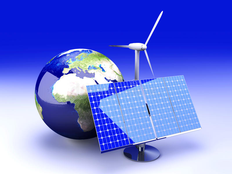 Alternative Energie - Europa stock abbildung