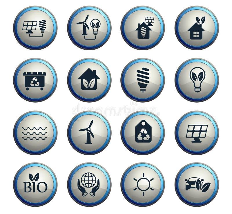 Alternative Energie-Ikonen-Set lizenzfreie abbildung