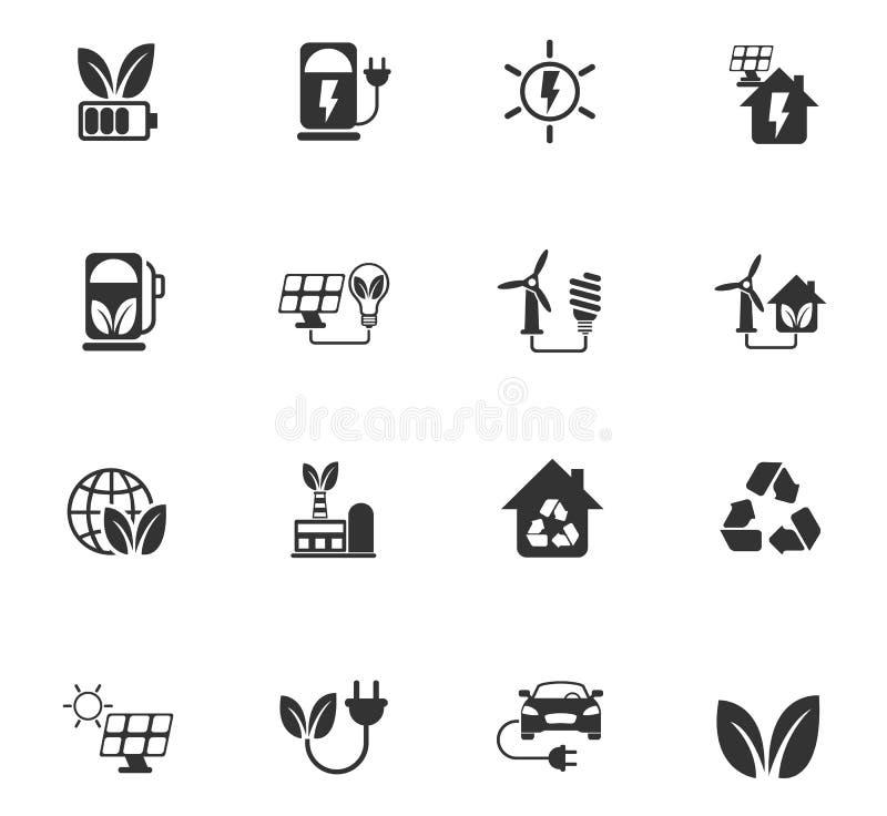 Alternative Energie-Ikonen-Set stock abbildung
