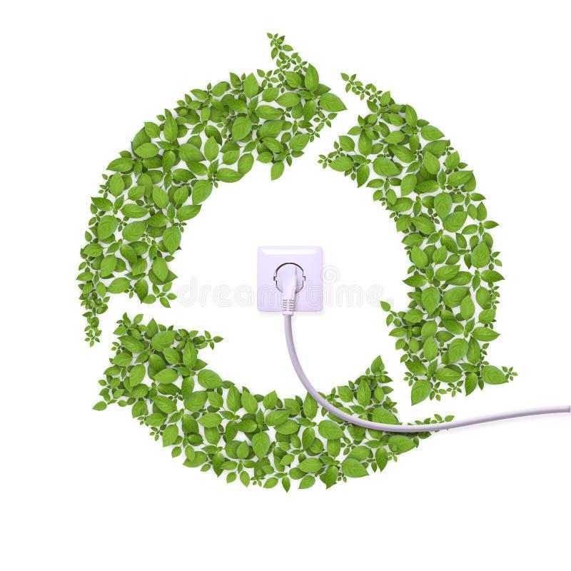 Alternative Energie, Konzept lizenzfreie abbildung