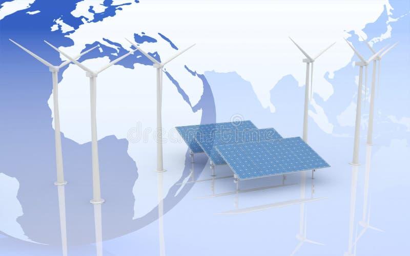 Alternative Energie-Konzept. vektor abbildung
