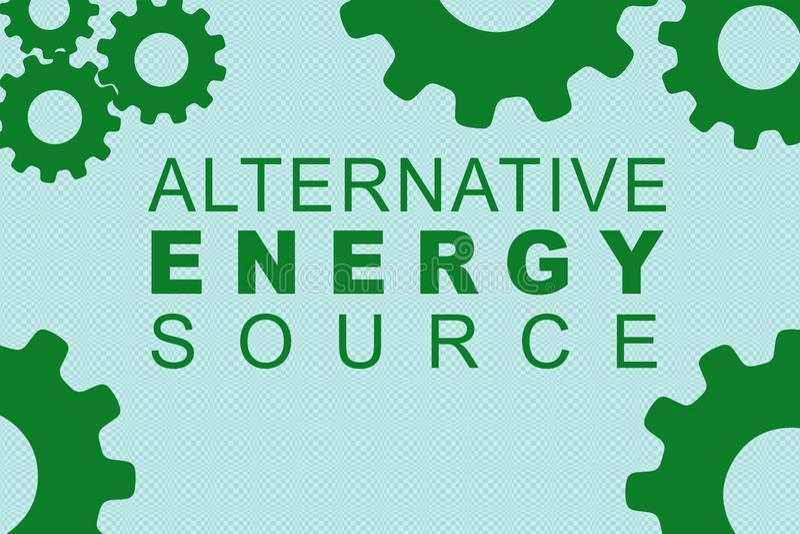 ALTERNATIVE ENERGIE-QUELLkonzept stock abbildung
