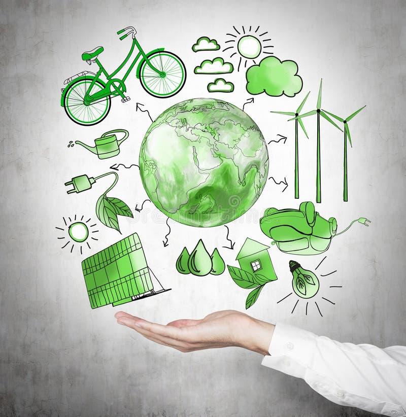 Alternative Energie, saubere Umwelt stockbild