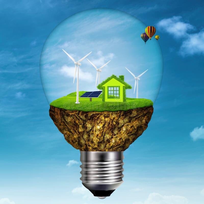 Alternative Energie- und Energiehintergründe stock abbildung