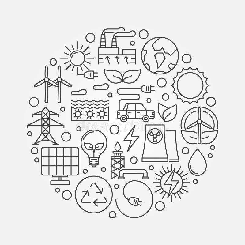 Alternative Energiequellenillustration lizenzfreie abbildung