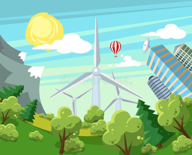 Alternative Energieträgerillustration vektor abbildung