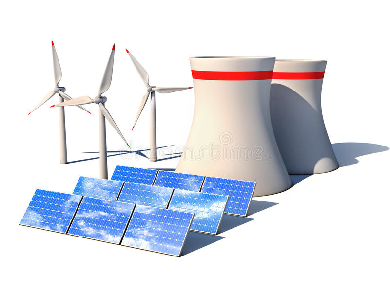 Alternative energy 3d concept stock illustration