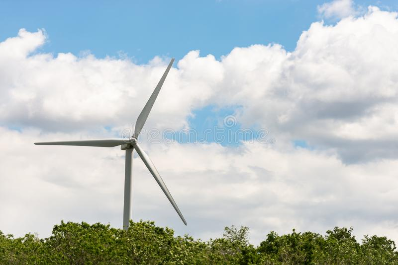 Alternative energy source. Windmill against the sky. Wind turbine in Austria royalty free stock photography