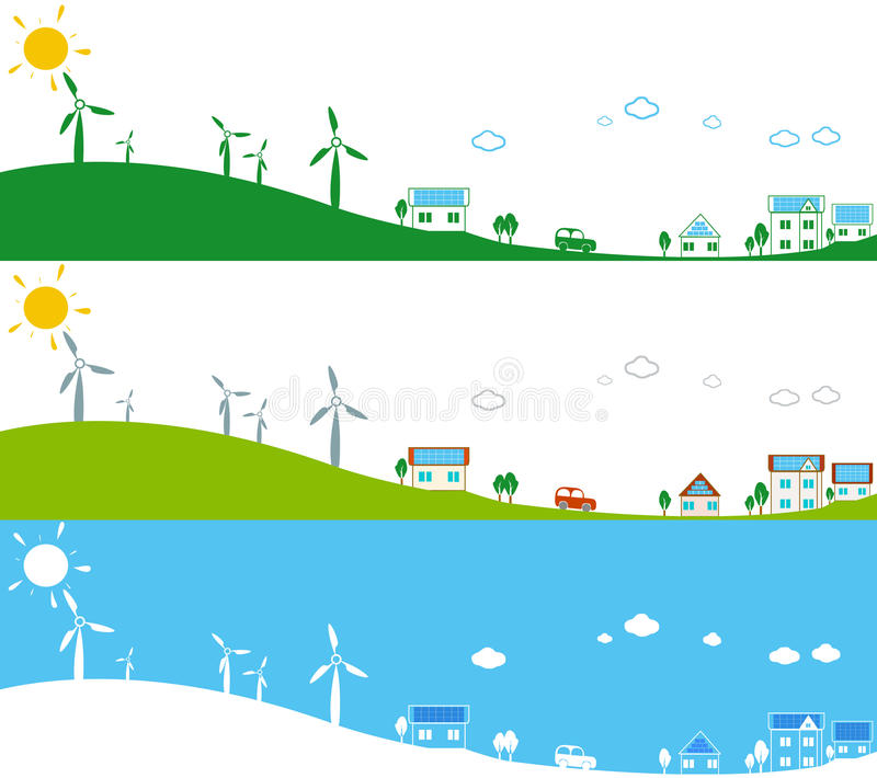 Download Alternative energy sources stock illustration. Image of energy - 26708710