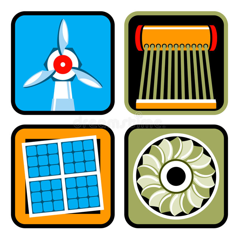 Alternative Energy Sources Icon Set